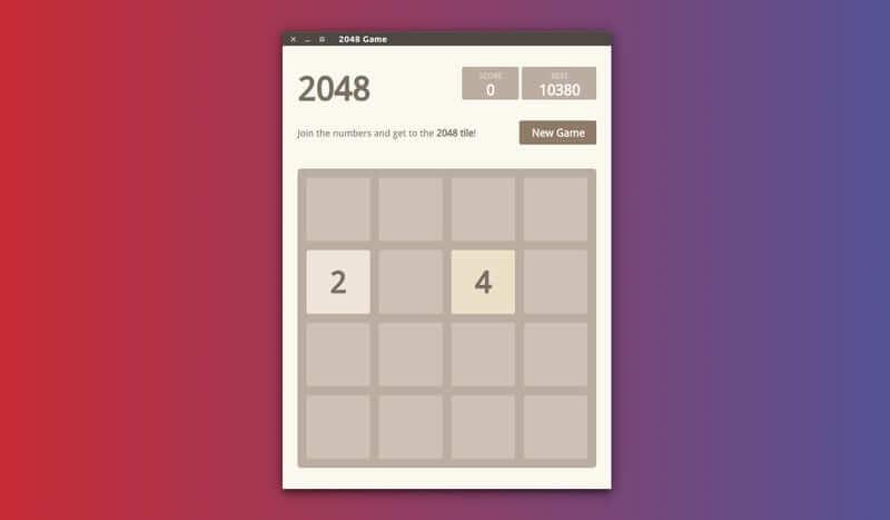 تصویری از بازی 2048